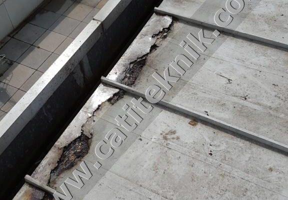 paslanmış taşyünü sandviç panel çatı tamiri ve izolasyonu